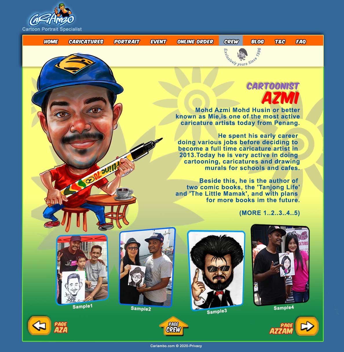 Caricature ALOY| Cartoonist AZMI|Caricature Malaysia|Penang Artist ...
